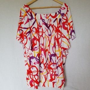 Lane Bryant geometric print top plus size 18/20